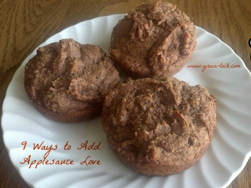 Muffins with Oil Replacement Applesauce.