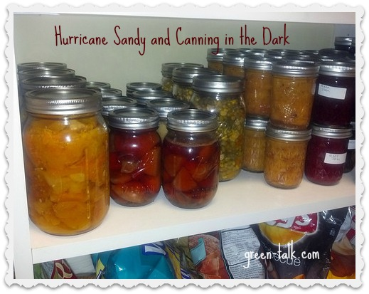 Canning in the Dark. The Aftermath of Hurricane Sandy
