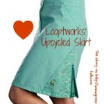 Looptworks Upcycled Skirt. Pin Me!