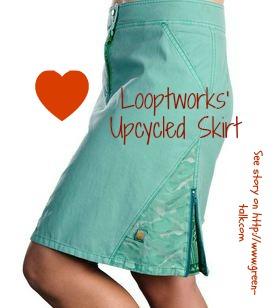 Looptworks  Upcycled Skirt. Pin Me!