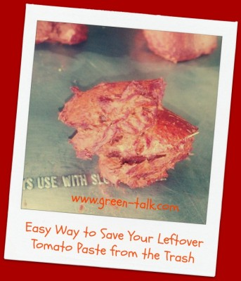 How to save leftover tomato paste