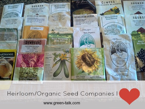 Heirloom and Organic Seed Company I love