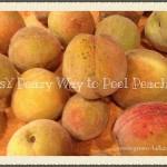 How to Easily Peel Peaches