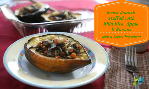 Acorn-Squash-Stuffed-with-Wild-RIce-Apple-and-Raisins