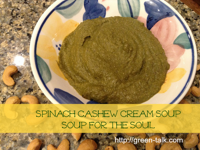 Spinach Soup with Cashew Cream