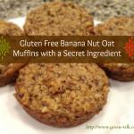 Banana Nut Oat Muffins (GF)