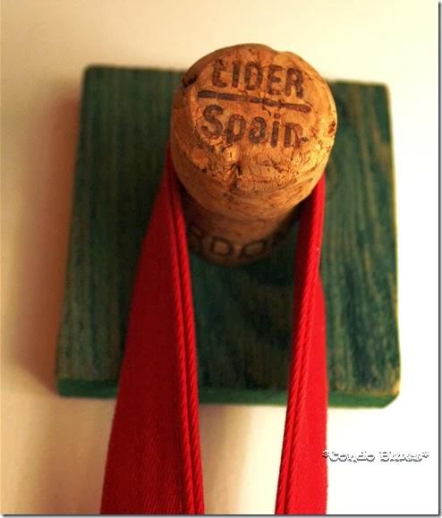 wine cork coat hook craft