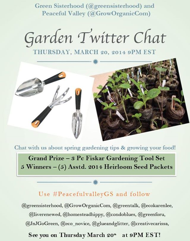Peaceful Valley and Green Sisterhood Twitter Chat