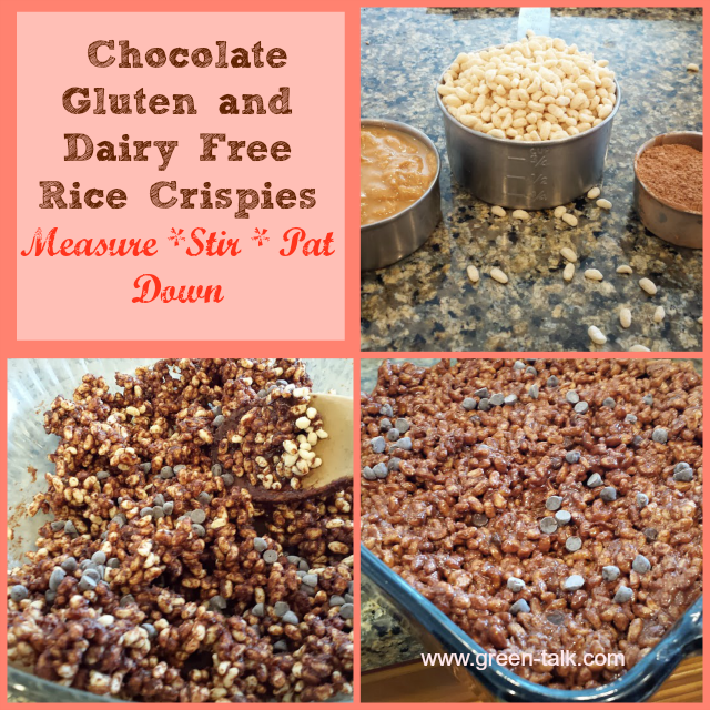Chocolate Rice Crispy Treats Gluten and Dairy Free