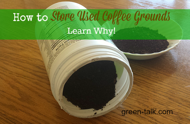 How to Store Used Coffee Grounds