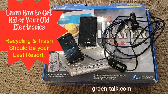 How to get rid of old electronics