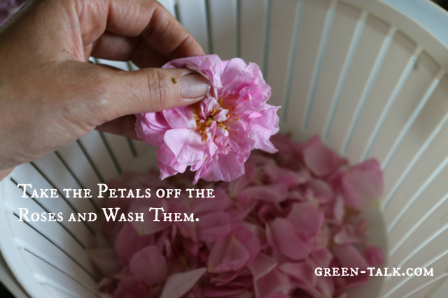 DIY Rose Water--Washing Petal