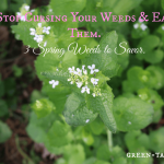 eating weeds