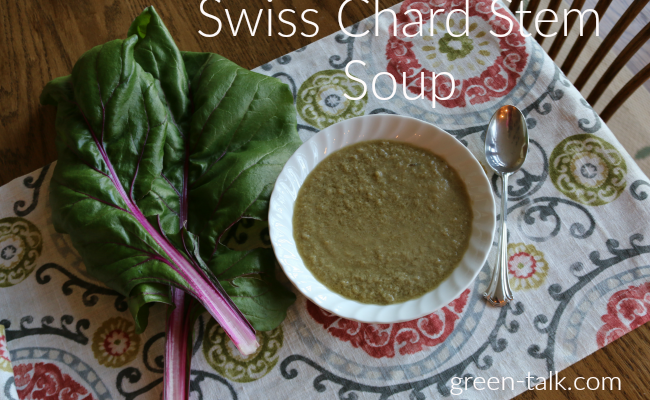 Swiss Chard Stem Soup. Move over Celery.